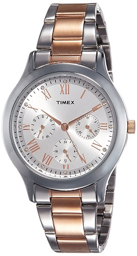 Timex Analog Silver Dial Watches for Women TW000Q807